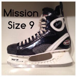 Mission Hockey Skates Men's 9