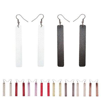 2 Pairs/Set Bar Leather Earrings Set for Women Girls Bohemia Dangle Drop GIFT 2 White Leather Earring