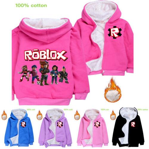 Roblox Kids Boys Girls Winter Basic Coat Warm Jacket Hoodies Tops