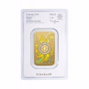 Heraeus 5 gram Kinebar gold .9999 Sealed