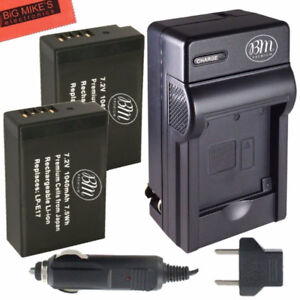 BM Premium 2-Pack of LP-E17 Batteries and Battery Charger