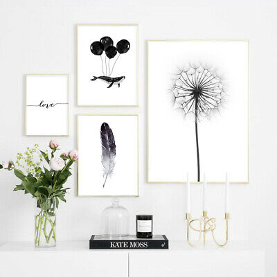 Dandelion Feather Nordic Canvas Poster Simple Scandinavian Style Wall Art Print](Feather Wall Art)