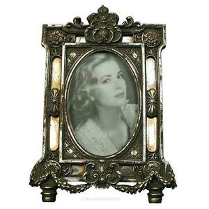 Bilderrahmen fotorahmen oval rahmen silber spiegel - Specchio antico ovale ...