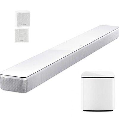 Bose Soundbar 700 + BOSE Bass Mod 700 + Surround Speaker incl. Pair UB-20 white (20 Soundbar)