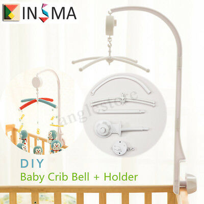 Baby Toddler Mobile Crib Bed Toy Clockwork Movement Music Box Infant Bell Hanger