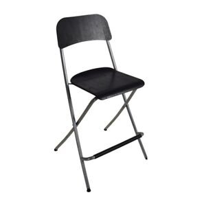 2 BAR STOOLS (FURNITURE) FOLDABLE WITH BACK REST-  GREAT PRICE