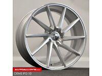 "18"" OEMS Directional alloy wheels & tyres Audi A3, A4, VW Jetta,Passat,Caddy Golf MK5,MK6,MK7 Etc"