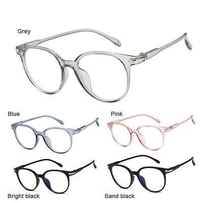 Dame Vintage Auge Brillengestell Klare Linse Optische Strahlenschutzbrille DE