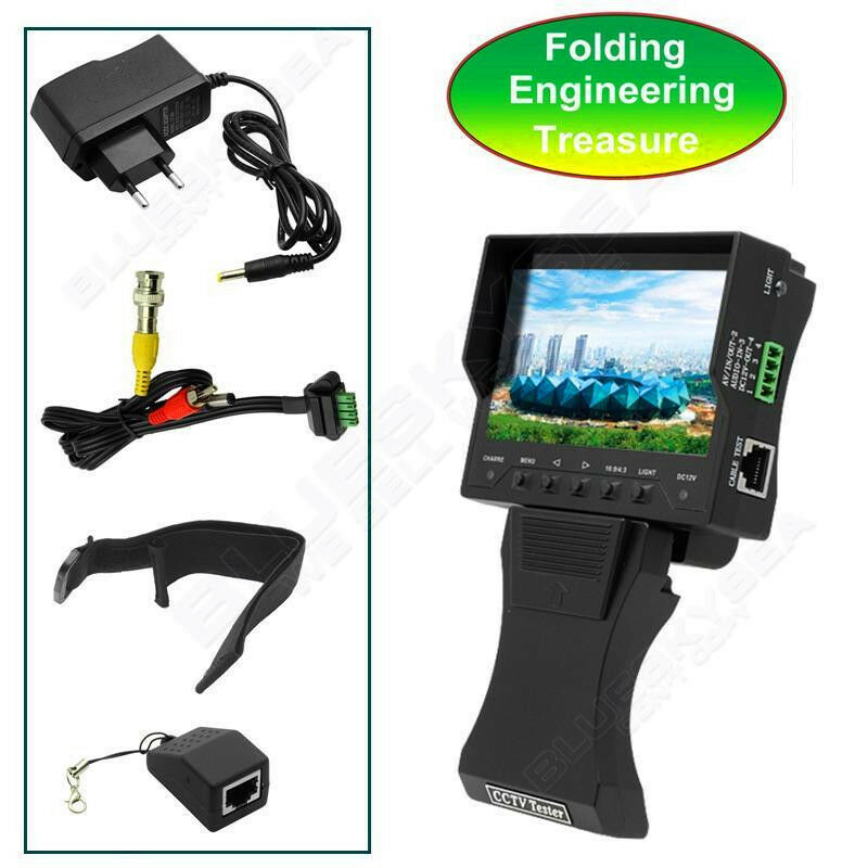 "CAMERA TESTER 4.3"" TFT LCD MONITOR CCTV Security Surveillance Tester Vedio Audio"