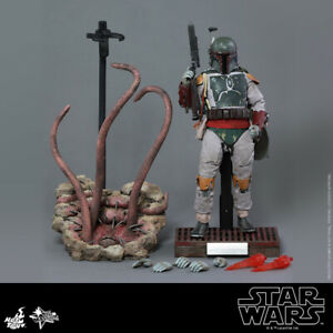 STAR WARS HOT TOYS BOBA FETT deluxe MMS313 + SARLACC PIT DIORAMA