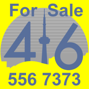 For Sale - 416 Area Code Number 416.556.7x7x - Easy/Good/Catchy