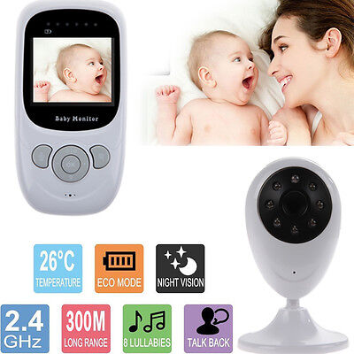 "2.4"" Wireless Audio Video Baby Monitor Digital Camera Night Vision Safety Viewer"