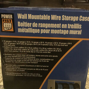 WALL MOUNTABLE WIRE STORAGE CASE