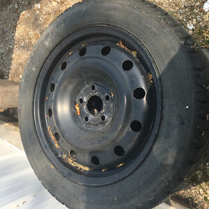 For sale: used winter tires with rims for 2009 Toyota Corolla Regina Regina Area image 1