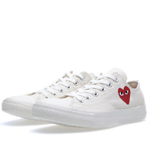 SOLD OUT size 5 Comme Des Garcons White Low Top Converse
