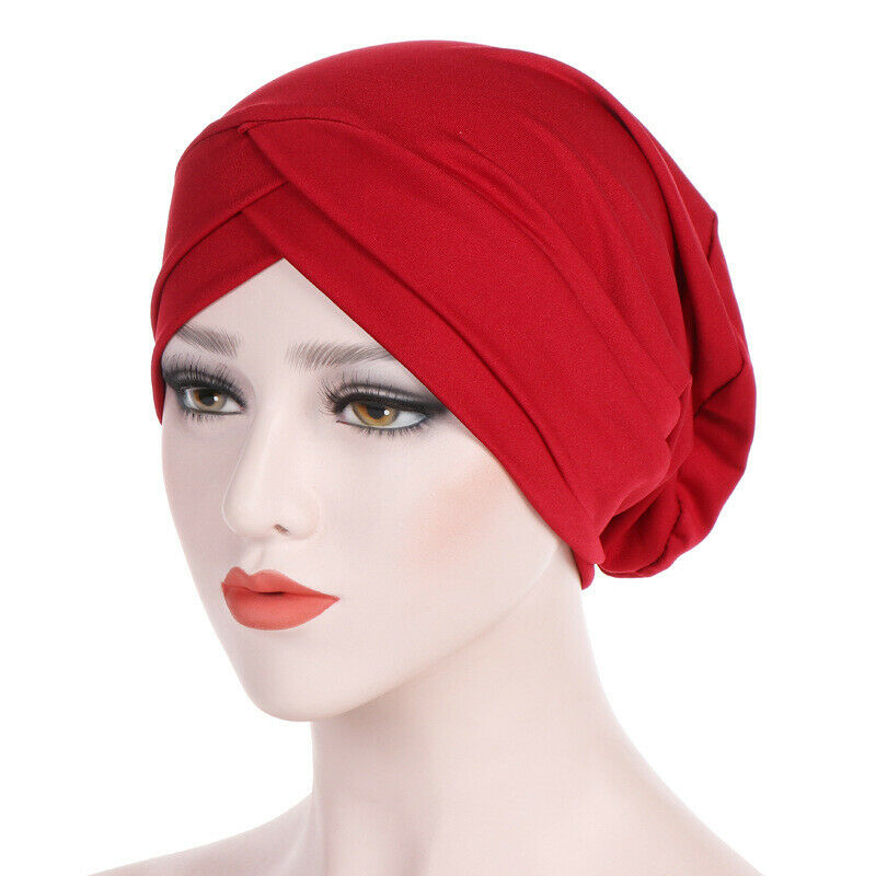 Women Muslim Cancer Chemo Turban Hat Ladies Hair Loss Cap Hijab Head Scarf Wrap Clothing, Shoes & Accessories