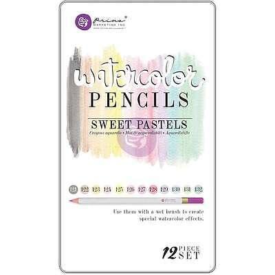 Prima Marketing Mixed Media Watercolor Pencils 12/Pkg Sweet Paste 655350584665