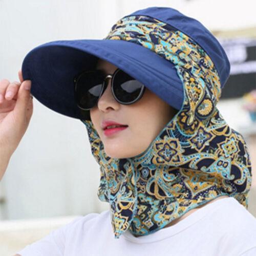 Women's Ladies Hat Outdoor Sun Cap Anti-UV Foldable Roll Up