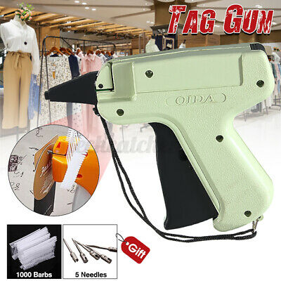 Clothes Garment Sock Price Label Tagging Tag Attaching Gun1000 Tag Barbs Pin