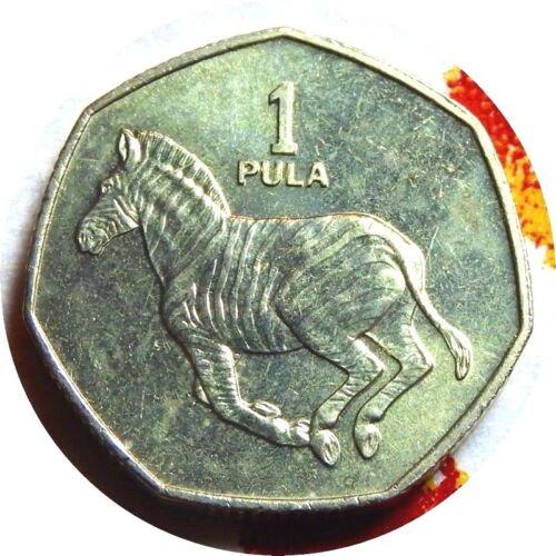 elf Botswana 1 Pula 1991 Zebra Horse