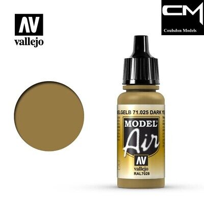 Vallejo Model Air 71.025 Dark Yellow RAL7028 17ml Acrylic Airbrush Paint