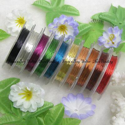 Pack Of 10 Colors 28 Gauge Artistic Wire Diameter 90 Meters For Jewelry (10 Gauge Wire Diameter)