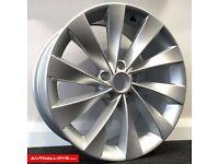 """17"""" 5-100 Scirocco Style Alloy wheels & Tyres Golf MK4, Polo, Audi A1"""