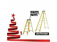JEFFERSON 5 & 10 TREAD FIBREGLASS STEP LADDER BUILDERS ELECTRICIANS