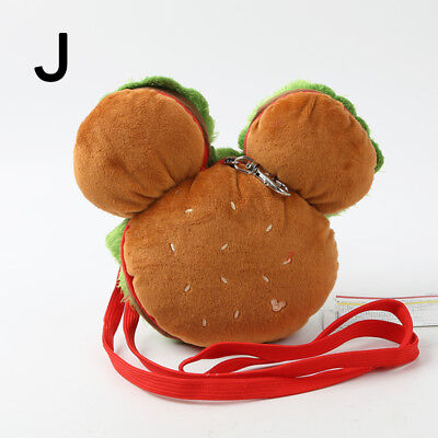 Used, mickey hamburger flexible card holder cover shoulder bag phone bags anime hot  for sale  Shipping to Canada