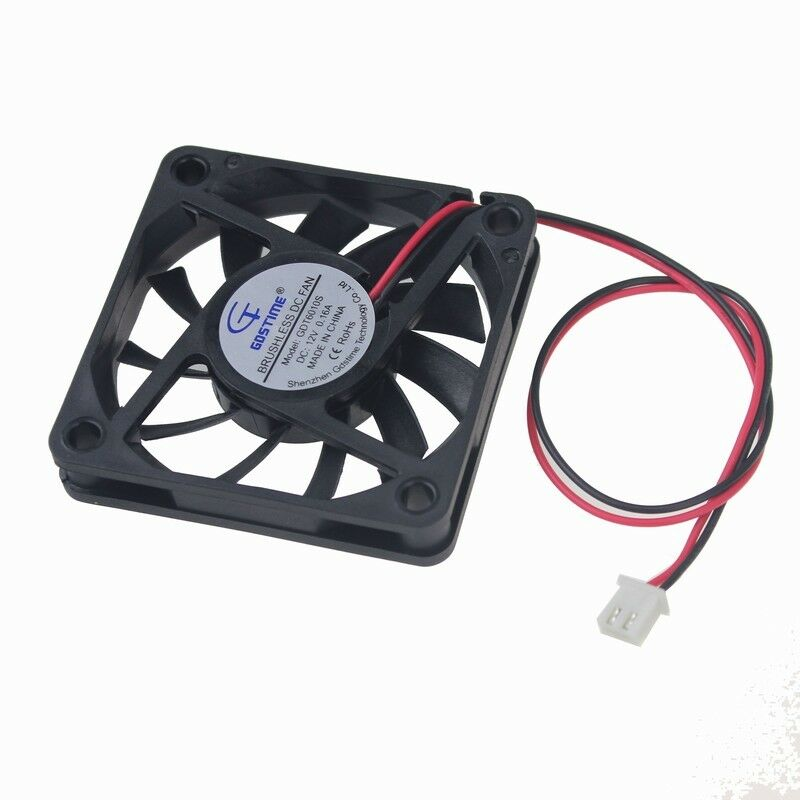 12V DC 60mm 2Pin 60x60x10mm CPU Cooling Computer PC Case Coo