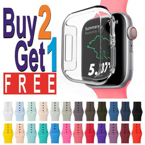 Silicone Wrist Band Strap For Apple Watch 1/2/3/4/5/6/SE Spo