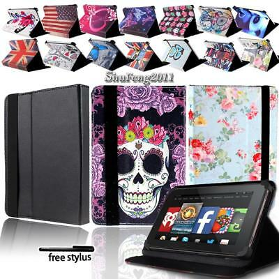 (For Various Amazon Kindle Fire 7 inch Tablet FOLIO LEATHER STAND CASE COVER)