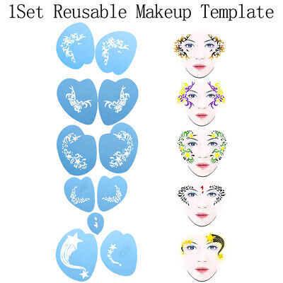 Reusable Face Paint Stencil Body Facial Template Tattoo DIY Design Painting UJG](Face Paint Diy)