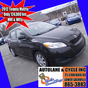 2012 Toyota Matrix Hatchback Clean Reliable Roomy Rear Area