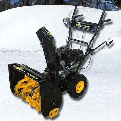 56cm Profi Benzin Schneefräse 6,5 PS E-Start 4-Takt 193cm³ Motor Schneeräumer
