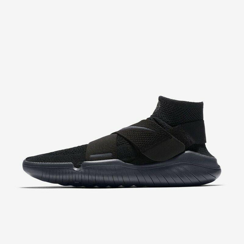 Nike Free RN Motion Flyknit 2018 Black Anthracite 942840-002 Men's Running Shoes