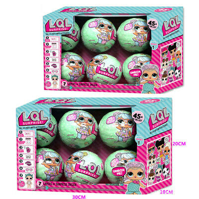 6 Pcs Lol Lil Outrageous 7 Layers Surprise Ball Series Doll Blind Mystery Toys
