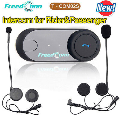 Interphone Bluetooth BT Motorbike Motorcycle Helmet Intercom Headset Speaker Mic