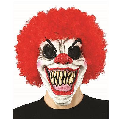 Killer Clown Mask (Killer Halloween Clown Mask Latex Scary CURLY)