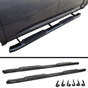 "NEW OEM Style 5"" Black Running Boards for Ford F150/F250/F350"