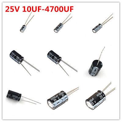 20pcs 25v 10-4700uf 22uf 47 100 220 470 680 1000 2200 Uf Electrolytic Capacitor