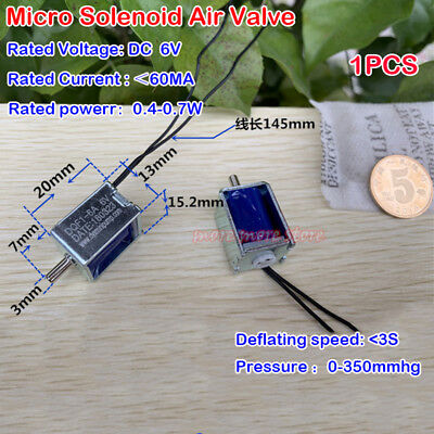 Micro Mini One-way Solenoid Valve Dc 6v Exhaust Calve Sphygmomanometer Monitor