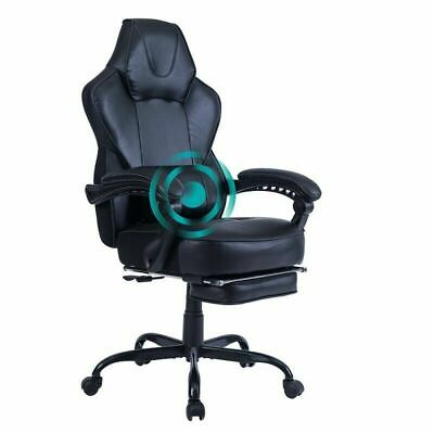 Gaming Chair Racing Ergonomic Recliner Office Computer Desk Chair Swivel Black