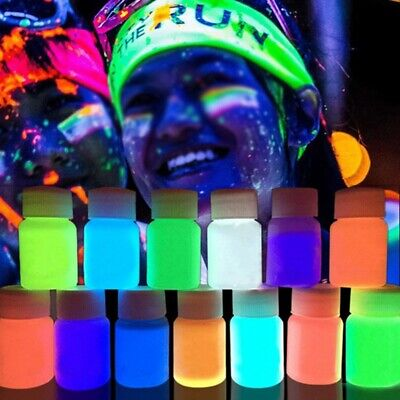Face Body Paint Glow in The Dark Neon Rave Clubbing Festival Make Up Party Tool](Glow In The Dark Make Up)