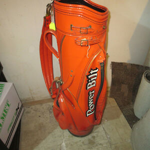 RARE Original Fuzzy Zoeller Power Bilt Orange Golf Bag