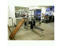 Universal multigym weights exercise bench chest press commercial gym