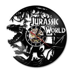 Vinyl Wall Clock Living Room Decoration Dinosaur World Hanging Clocks Wall Watch