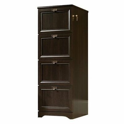 Bowery Hill Wood Lateral File Cabinet In Cinnamon Cherry With 4 Drawers