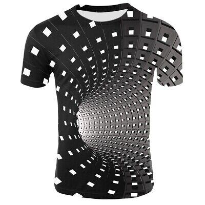 Optische Täuschung 3D T-Shirt Hypnose Swirl Print Männer Frauen Kurzarm T-Shirts