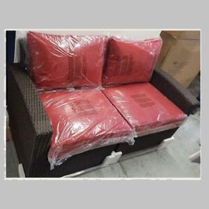 Elba 11C101A-W-LS+RS/RED Wicker Left & Right Arm Sofa (New other)